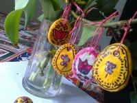 husveti dekoracio nyuszi tojas so liszt gyurma